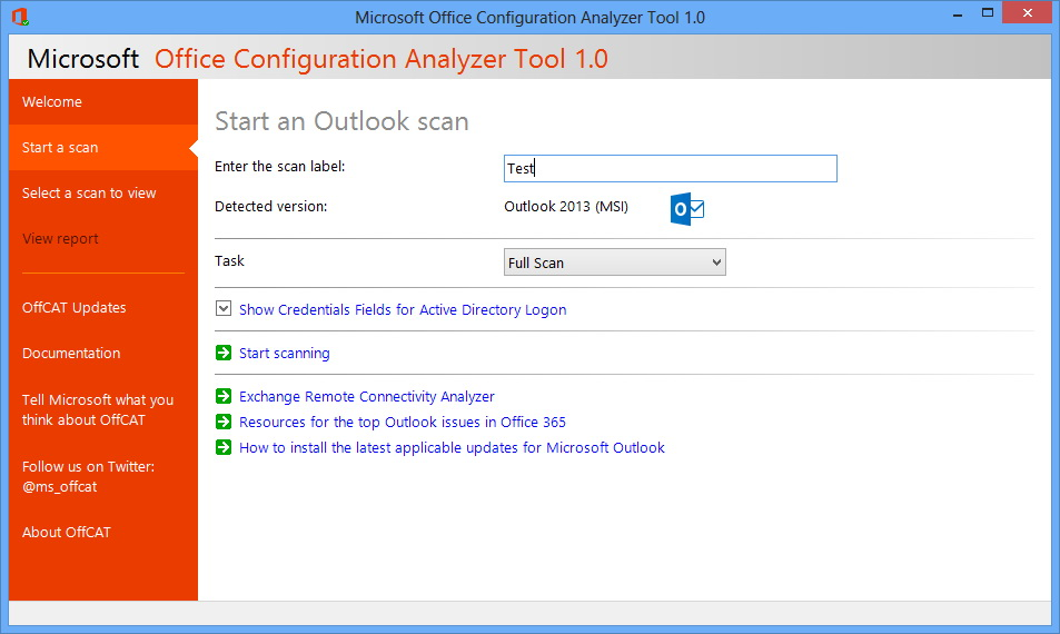 microsoft outlook configuration analyzer tool 2.0 download