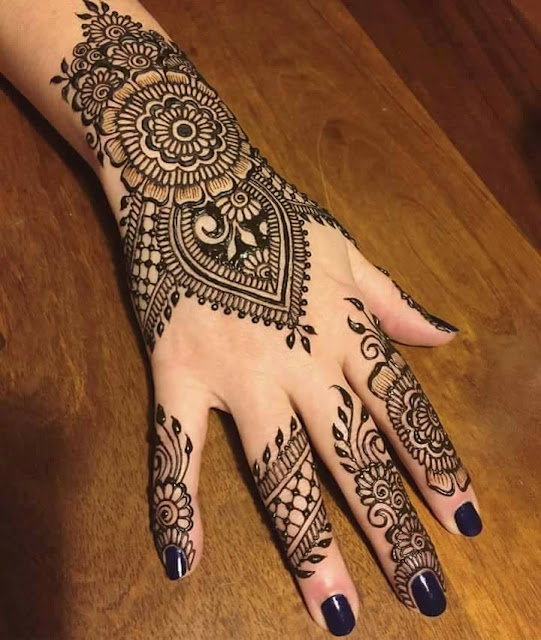 Bridal Mehandi Designs for Hands 11