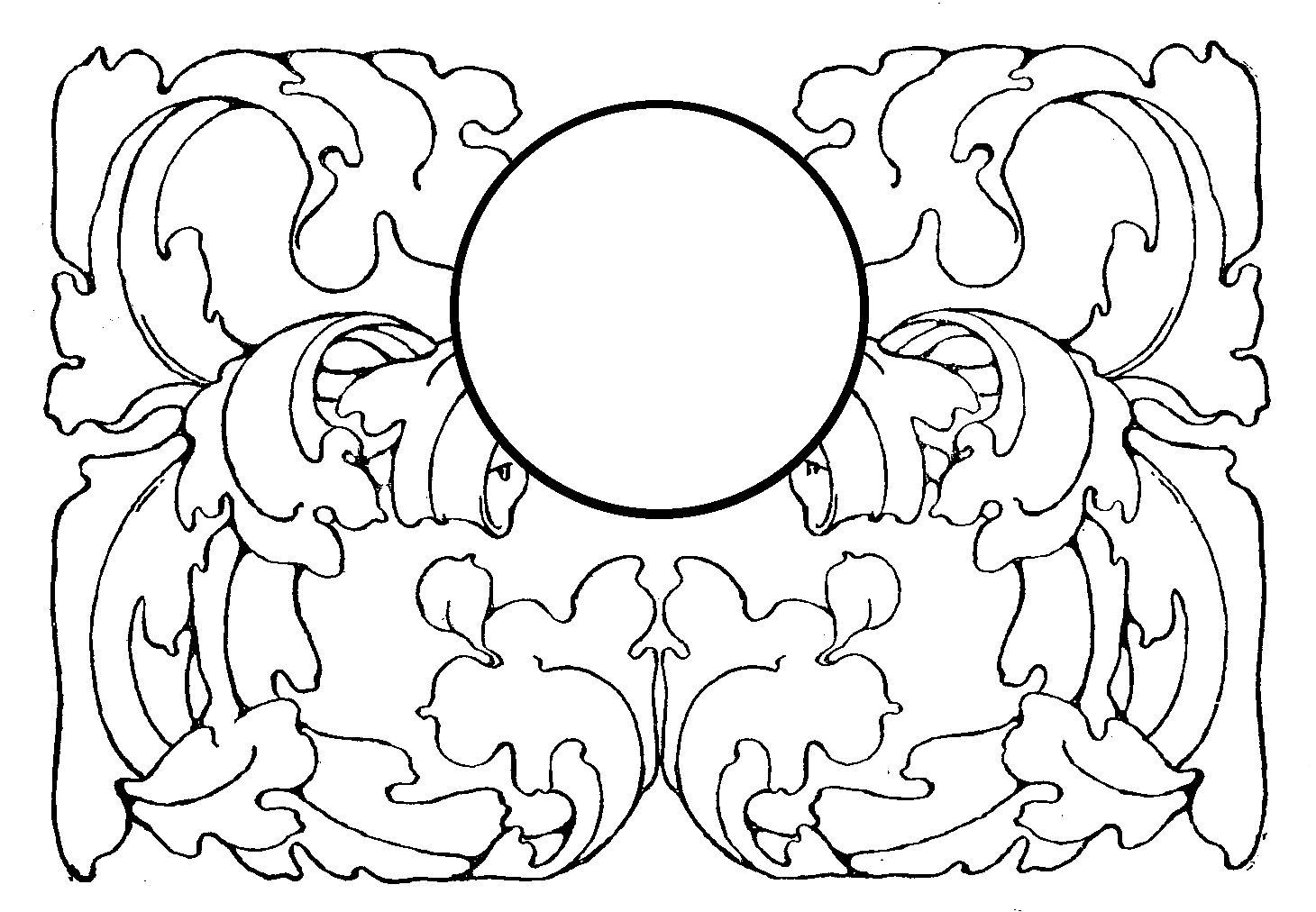 Digital Stamp Design Digital Flourish Design Frame