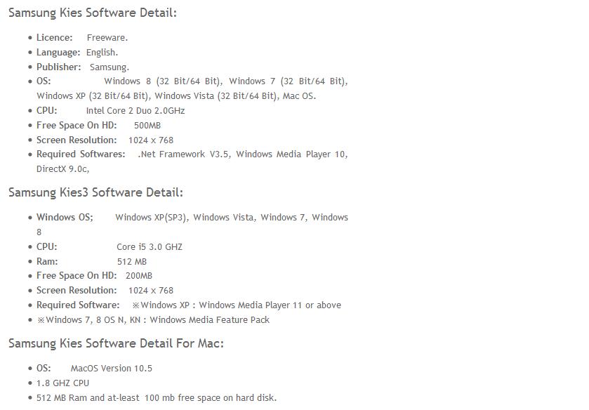 Samsung kies mini download