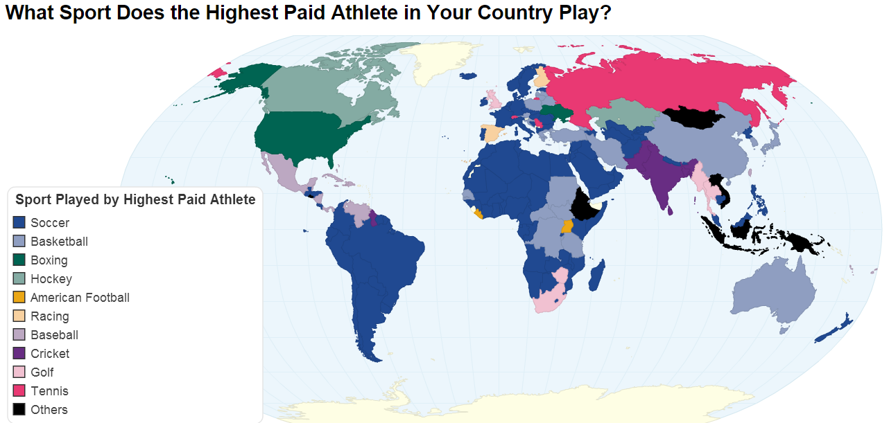 What sport does the highest paid athlete in your country play?