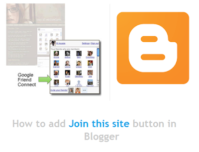 how to add join this site button in blogger