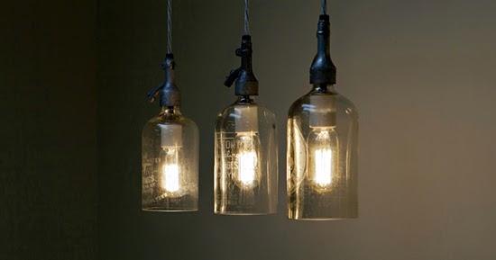 kreasi lampu hias unik dari barang bekas