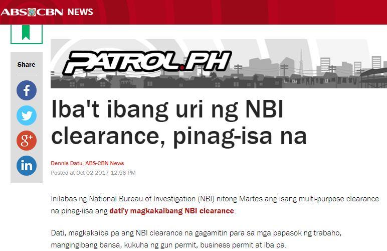 http://news.abs-cbn.com/news/10/02/17/ibat-ibang-uri-ng-nbi-clearance-pinag-isa-na