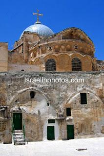 Israel dalam foto: Yerusalem - Gereja Makam Kudus adalah gereja Kristen di Kota Lama Yerusalem