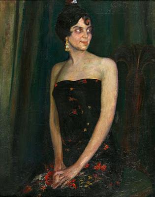 Retrato de mujer, Francisco Pons Arnau, Pintor español, Pintor Valenciano, Pintura Valenciana, Impresionismo Valenciano, Pintor Pons Arnau, Retratos de Pons Arnau