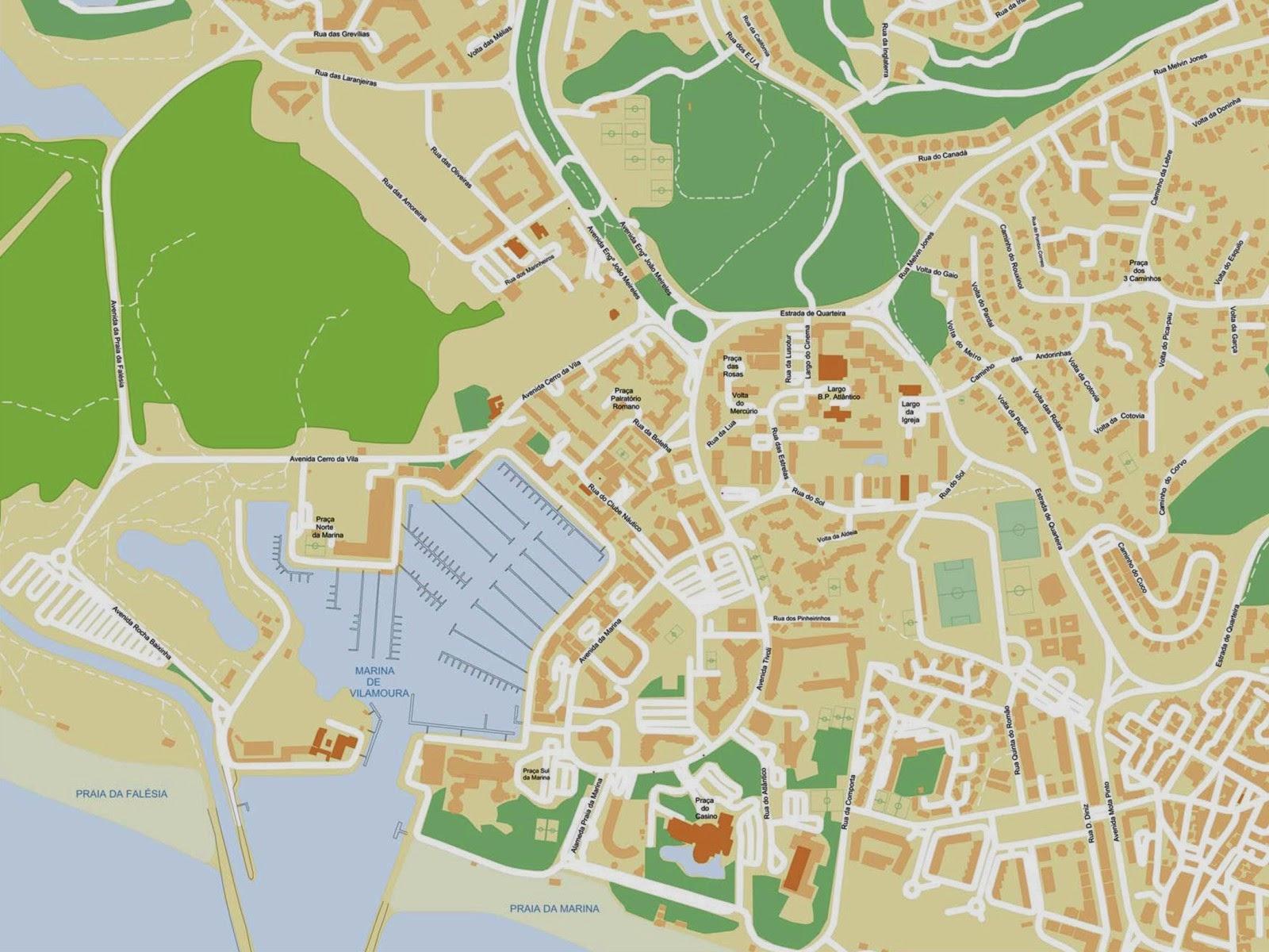 mapa de portugal quarteira algarve Mapas de Vilamoura   Portugal | MapasBlog mapa de portugal quarteira algarve
