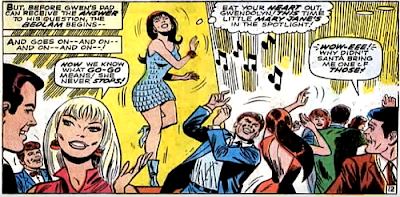 Amazing Spider-Man #59, don heck, john romita, as peter parker and gwen stacy watch, mary jane dances her heart out on the opening night of the club