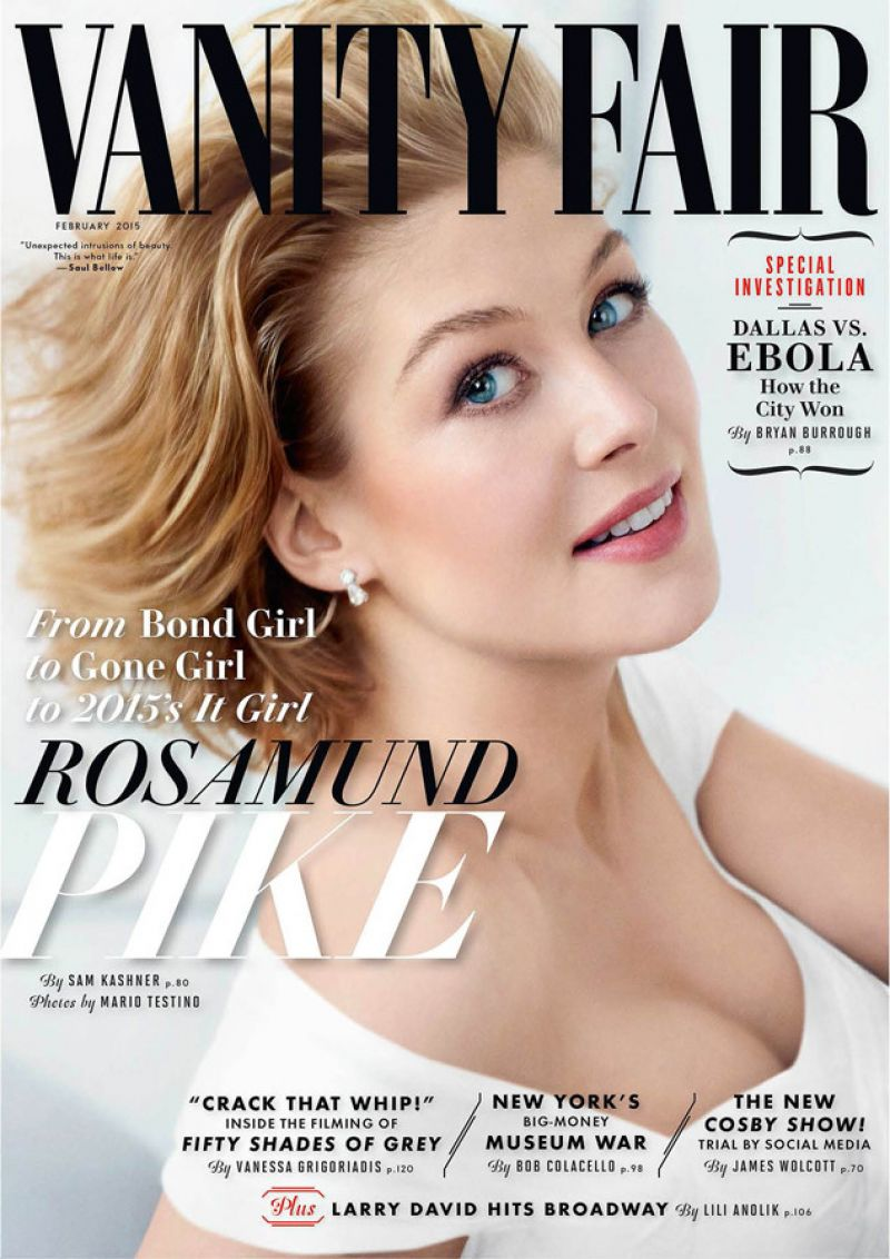 Rosamund Pike is the cover star of  Vanity Fair February 2015