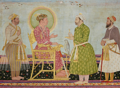 Jahangir offers jewels to Asaf Khan
