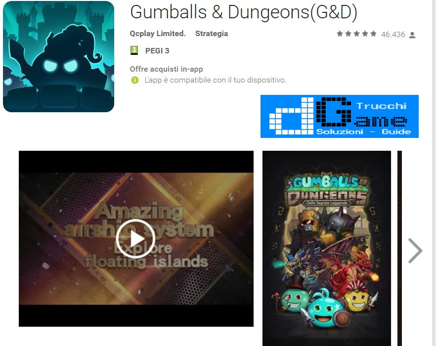 Trucchi Gumballs & Dungeons(G&D) Mod Apk Android v0.33.170308.03-1.4.1