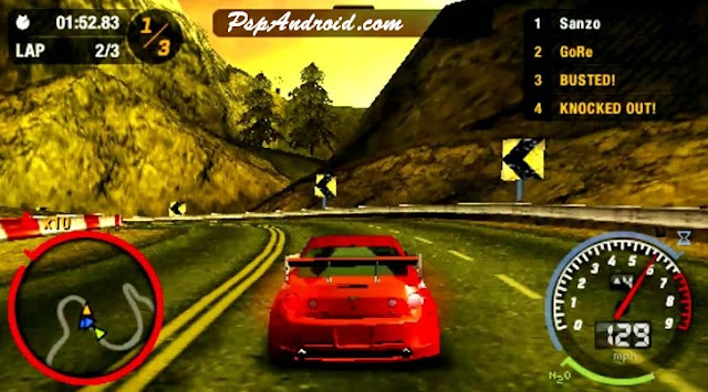 NFS Most Wanted PPSSPP  ISO