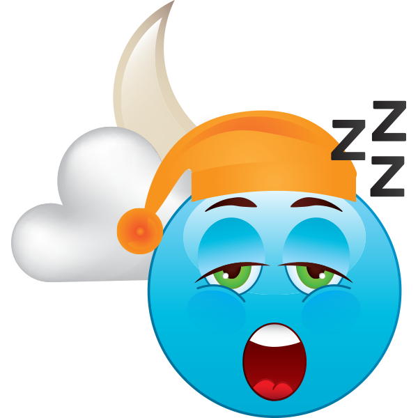 Sleepy emoji
