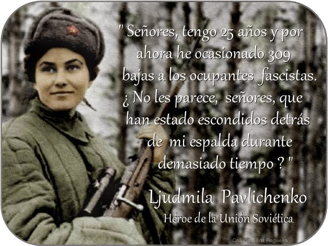 Resultado de imagem para Lyudmila Pavlichenko