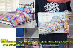 Sprei Tommony Barbie Single 120x200xT20 1 Sarung Bantal 1 Sarung Guling Kartun Biru Anak Remaja