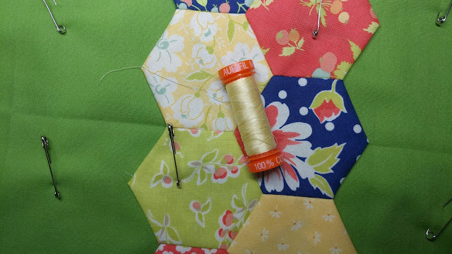 Aurifil thread in Champagne and Wheat