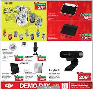 Staples Imagine the holidays flyer November 8 - 14, 2017