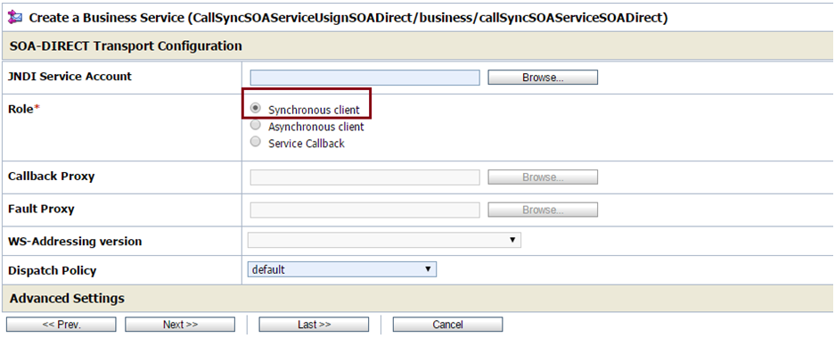 OSB to SOA Using SOA Direct Sync Client