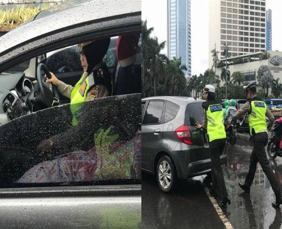 Curhatan Wanita Ditolong Polisi Saat Mobil Mogok dan Bawa Orang Sakit Ini Viral