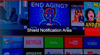 Notification Area on a Nvidia Shield