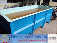 bak ikan untuk pendederan dari bahan fiberglass