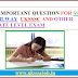 50 IMPORTANT QUESTION FOR SSC RAILWAY  UKSSSC AND OTHER  STATE LEVEL EXAM