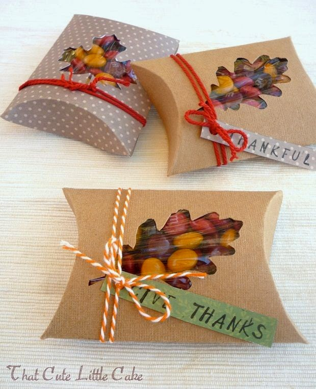 DIY fall wedding favors