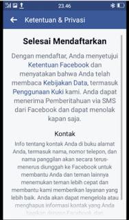 Mendaftar FB bARU