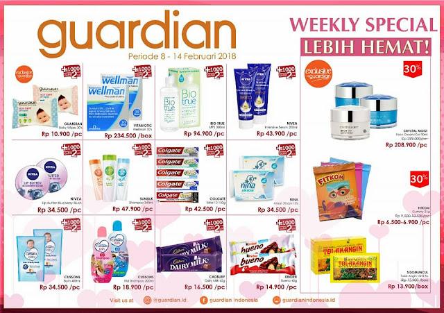 Katalog Promo GUARDIAN Weekly Specials Periode 08 - 14 Februari 2018