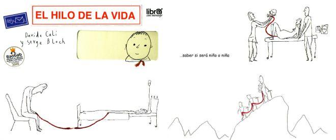 Libro infantil para tratar la muerte como aprte de la vida: El hilo de la vida