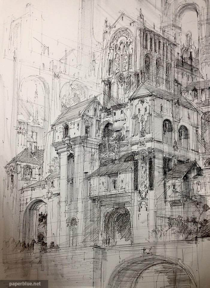 01-PaperBlue-Large-Ghostly-Detailed-Fantasy-City-Expanse-www-designstack-co