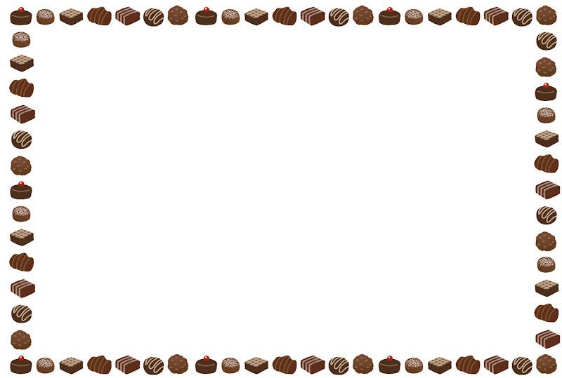 チョコレートのフレーム(横)