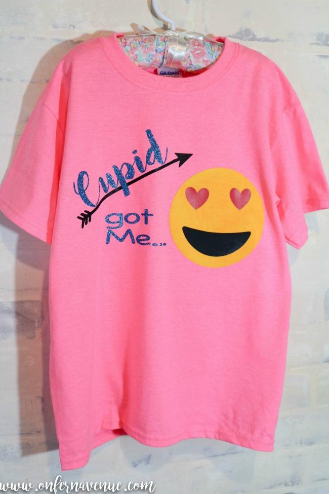 cupid, valentines shirt, valentines day shirt, emoji valentine, valentines with emoji, cricut cutting machine