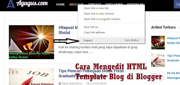 Cara Mengedit HTML Template Blog di Blogger
