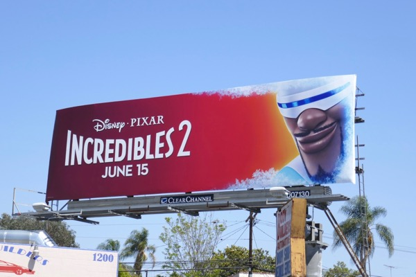 Frozone Incredibles 2 movie billboard