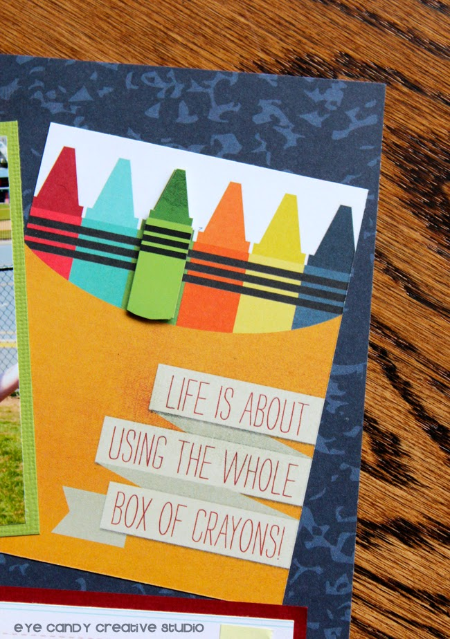 scrapbook, box of crayons, teacher gift idea, teacher appreciation gift idea