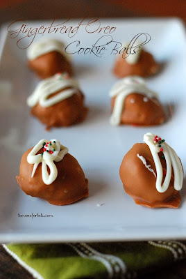 Gingerbread Oreo Cookie Balls
