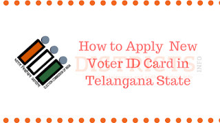 How to Apply New Voter ID Card in Telangana