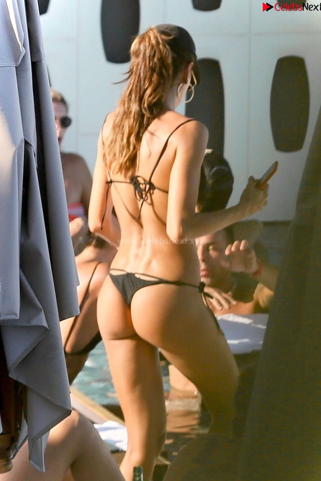 Izabel Goulart small sexy Ass in beach in lovely sexy thongs sexycelebs.in Exclusive Pics