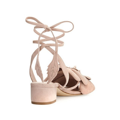 Olgana Paris Dahlia Suede Ankle Wrap Sandal
