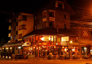 Downtown Pucon at Night chile