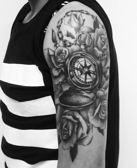 50 Impressive Compass Tattoos Designs And Ideas 2019 Page 2 Of