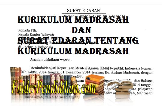 Edaran tentang Kurikulum Madrasah