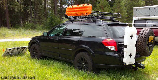 Alaskan Subaru Outback: complete with drawer system and solar set-up.