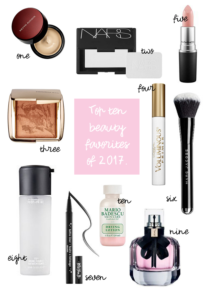 2017 yearly beauty favorites