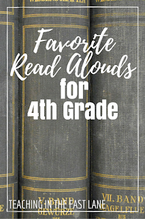 My favorite read alouds for fourth grade and how I chose them!