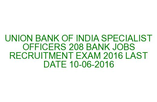 union bank of india specialist officer recruitment 2014 notification