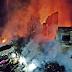 Por pouco, residência de casal de idosos não é atingida por incêndio em Canoinhas