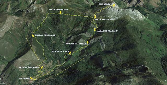 Ruta del Tiatordos: Ortofoto.