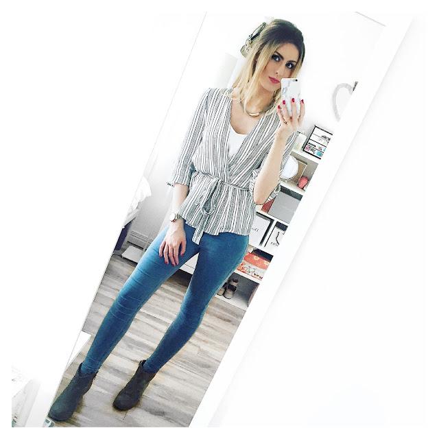 new look stripe kimono outfit topshop joni jeans